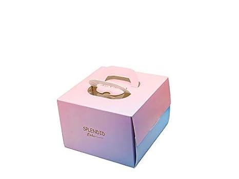 Yyanliii Cajas para Pasteles, Caja de empaque Cuadrada para empaque de Mousse de Queso portátil de 6 Pulgadas de Diez: Amazon.es: Hogar
