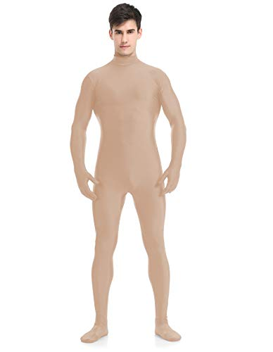speerise Adult Full Lycra Spandex Bodysuit Unitard Costume Zentai Suit Without Hood, L, Flesh for $<!--$22.99-->