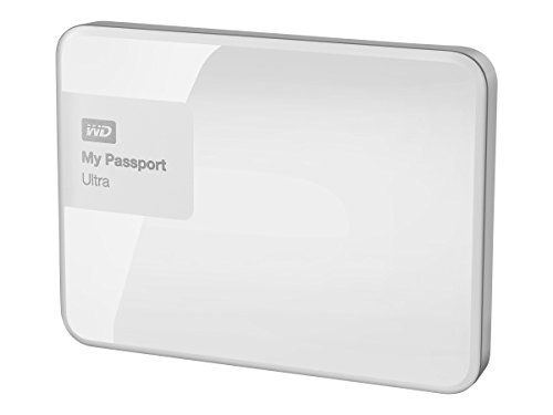 WD 2TB White My Passport Ultra Portable External Hard Drive - USB 3.0 - WDBBKD0020BWT-NESN [Old Model] (Renewed)