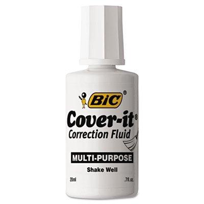Fluid, 20 ml Bottle, White, Dozen, Sold as 12 Each (Stock Color Correction Fluid)