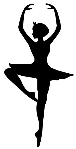 - Decal Flags USA Ballerina Dancer Silhouette - Peel and Stick Sticker - Auto, Wall, Laptop, Cell, Truck Sticker for Windows, Cars, Trucks