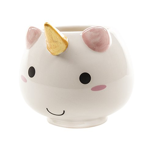 SMOKO Ceramic Hand Painted Elodie Unicorn Mug, Microwave Safe