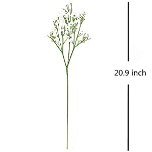 LYLYFAN 12 Pcs Babys Breath Artificial Flowers, Gypsophila Real Touch Flowers for Wedding Party Home Garden Decoration 2