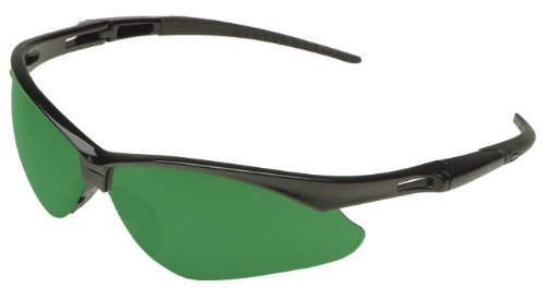 Jackson Safety 3004761 Nemesis Cutting Safety Glasses Black Frame / IRUV 5.0 Shade Green Lens - Shade Glasses 5