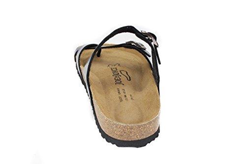 JOE N JOYCE Women Milano Soft-Footbed Sandales Hammertone SynSoft Sandals Slippers Regular Dark Blue bl1Lt4