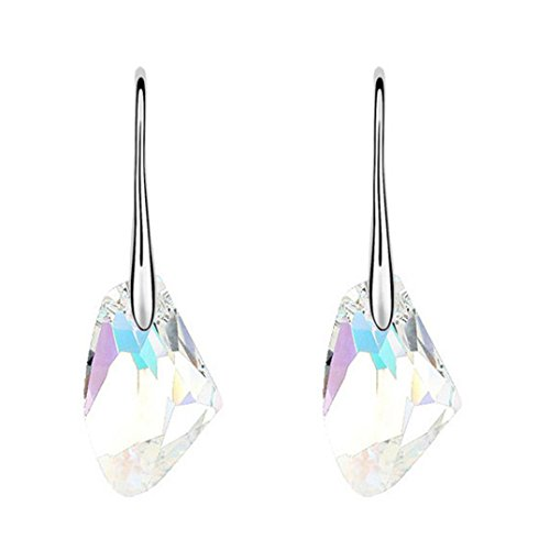 Crystal Rhinestone Earrings,Hemlock Wedding Earrings Diamond Ear Studs Jewelry (Swarovski Agate Earrings)