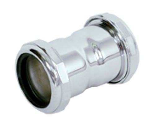 (Eastman 35137 22-Gauge Steel Coupling Fitting with Slip Joint Connection for Tubular Drain Applications, Polished Chrome, 1-1/4-inch)