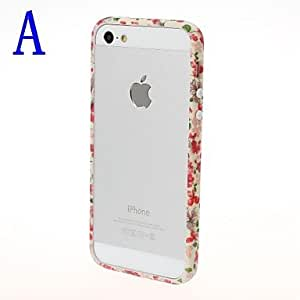 SUMCOM Small Fresh Florals Series Bumper Frame for iPhone 5/5S , H