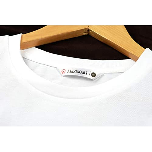 314OylIePYL. SS500  - AELOMART Men's Cotton T Shirt-(Amt1072-P_White)