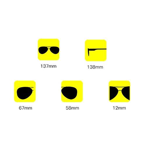 Redondas Gafas Las Viaje Sin Color Sol De Gafas LIZHIQIANG De De De Gafas Pink La Tendencia Marco Redondas Sol ULTRAVIOLETA De Azul 6x87w6t4q