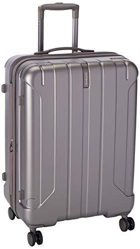 Samsonite Near Spinner 66/24 exp Unisex Medium Silver Polypropylene Luggage Bag TSA Approved AY8055002