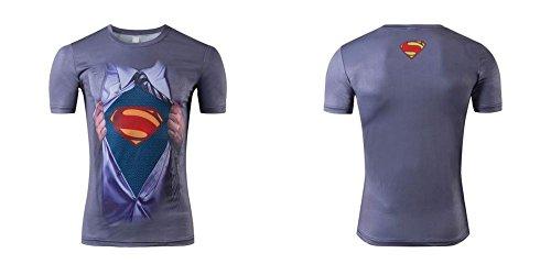 Stricken Sport-T-Shirt Mit Dem Druck Superman Emblem FüR Den Menschen GrößEn (Xs) Zu WäHlen