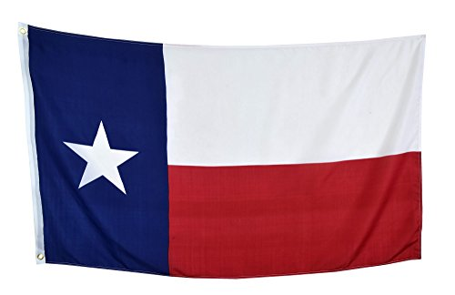 (Shop72 US Texas State Flags - Texas Flag - 3x5' Flag from Sturdy 100D Polyester - Canvas Header Brass Grommets Double Stitched from Wind Side)