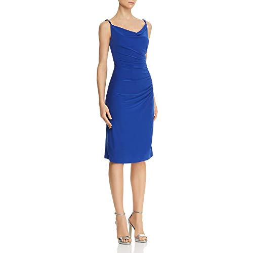 Laundry by Shelli Segal Women's Ruched Side Dress, Brilliant Blue, 8