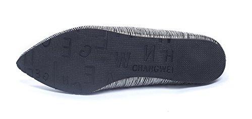 AalarDom Mujer Material Sin cordones Puntiagudo Suave Plano Negro