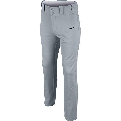 (NIKE Boy's Core Dri-fit Open Hem Baseball Pant Blue Grey/Black Size Small)