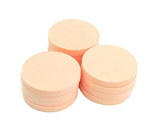 (12pcs Women's Soft Makeup Beauty Eye Face Foundation Blender Facial Smooth Powder Puff Cosmetics Blush Applicators Round Sponges Use for Dry and Wet)