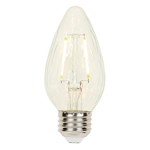 Westinghouse Lighting 3319300 25-Watt Equivalent F15 Dimmable Clear Filament LED Light Bulb with Medium Base