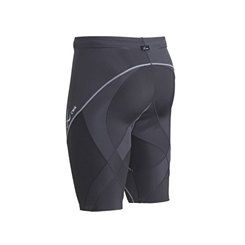 CW-X Men's Endurance Pro Shorts, Charcoal/Charcoal/Silver, Small by CW-X (Image #4)