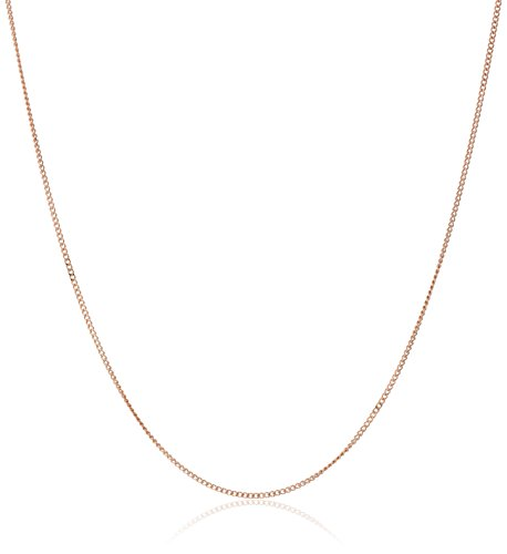 14k Rose Gold Baby Curb Chain Necklace, 20