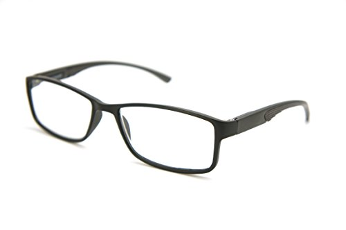 ColorViper Full-Rimless Flexie Reading double injection color Glasses NEW FULL-RIM (matte black / grey -spring hinge, - Spring Hinge Double Sunglasses