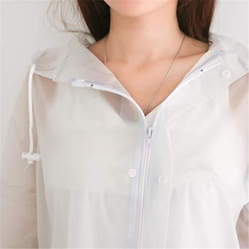 Eva Coupe L Manteau Femme Hgxc Blanc Blanc Pour vent Wy Moto Taille couleur Imperméable Air Poncho Transparent Plein De zzqHTA0S