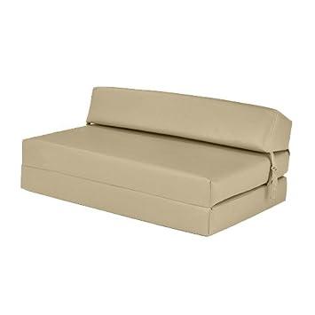 Ready Steady Bed Creme Doppelbett Aus Kunstleder Ausklappen