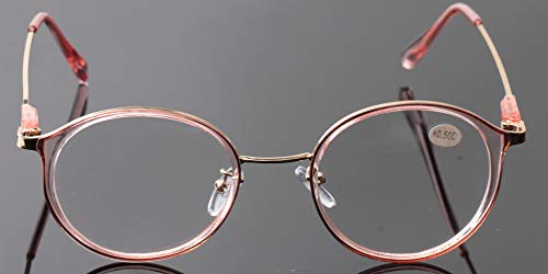 a1c2146bbe SOOLALA Unisex Vintage Inspired Round Circle Reading Glasses Customized  Strengths