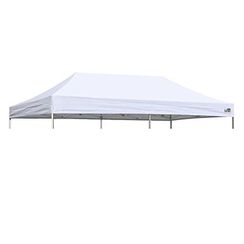 Eurmax Pop Up Canopy Top Gazebo Tent Cover Replacement Top Only (10x20, White)