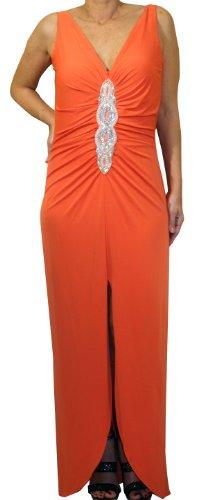 """Waooh - Mode - langes Kleid """"Laetitia"""" - Orange"""