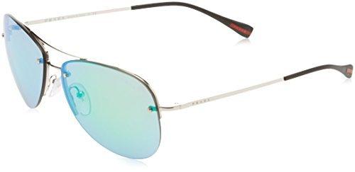 Prada Linea Rossa Unisex PS 50RS Sunglasses Silver / Grey Gradient 62mm ()