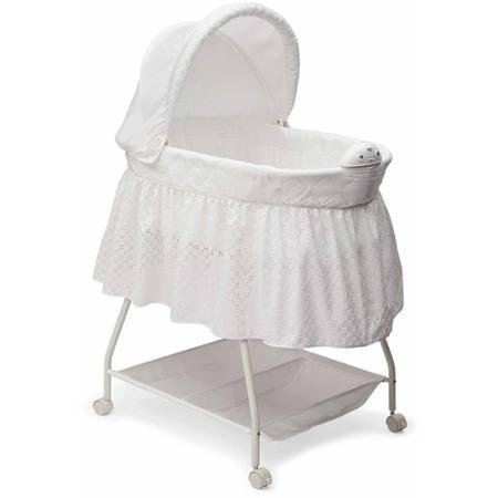 Delta Children Sweet Beginnings Nursery Products Deluxe Gliding Bassinet, Turtle Dove 25021-113