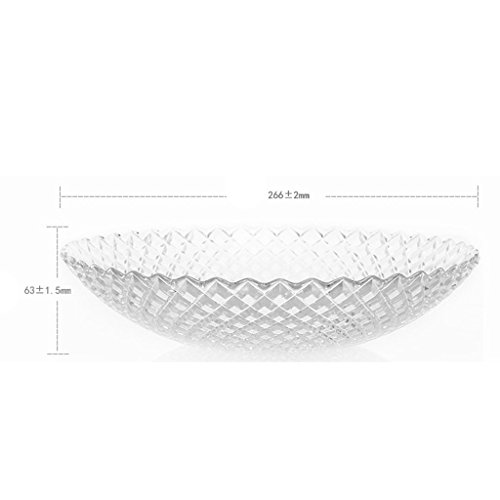 modern European style minimalism glass fruit dish Fruiting coffee table Home Decoration Fruit basket fruit Dried fruit plate large by MYHUS (Image #3)