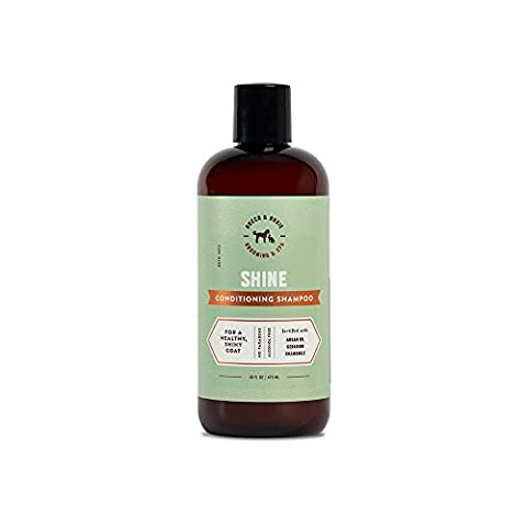 Argan Oil Dog Shampoo and Conditioner - Healthy Shiny Coat - With Geranium, Chamomile - Best Natural Pet Wash for Your Dogs Bath (16 (Dog Conditioner For Poodles)