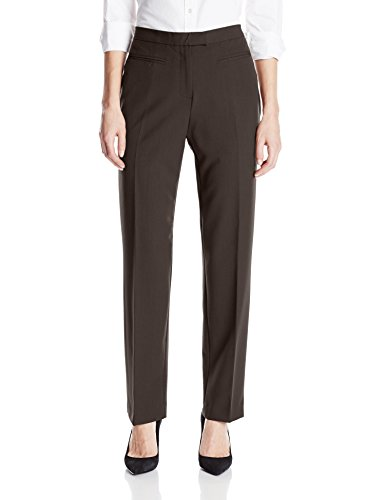 Ruby Rd. Women's Flat Front Easy Stretch Pant, Espresso, 18