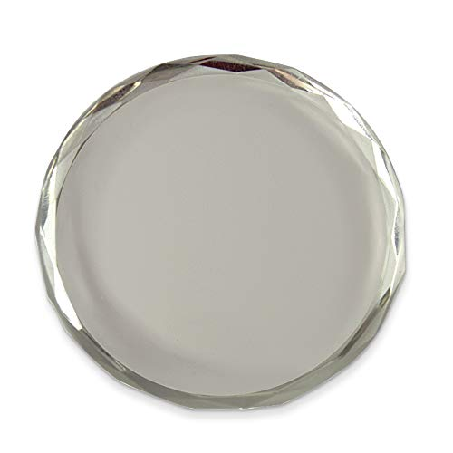 Jewels By Lux Round Faceted Edge Crystal Paperweight