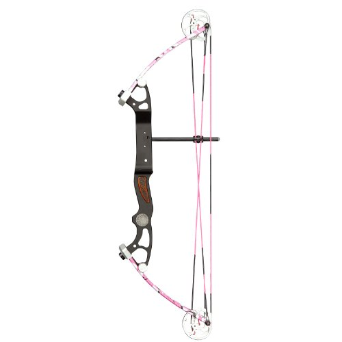 Alpine Rookie Right Hand Bow, Pink Camo, 10 to 35-Inch