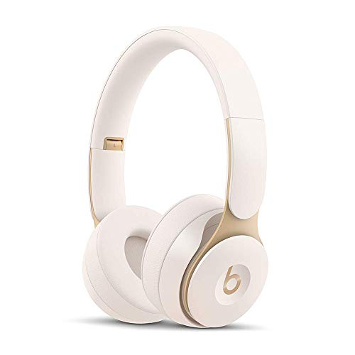 Beats Solo Pro Wireless Noise Cancelling On-Ear Headphones – Apple H1 Headphone Chip, Class 1 Bluetooth, Active Noise Cancelling, Transparency, 22 Hours of Listening Time – Ivory