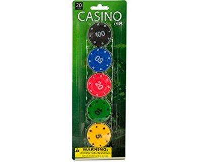 UPC 731015221004, Casino Poker Chips Set - Pack of 12