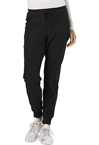 HeartSoul Break on Through by Women's The Jogger Low Rise Tapered Leg Scrub Pant Small Petite Black (Pants Scrub Petite Low Rise)