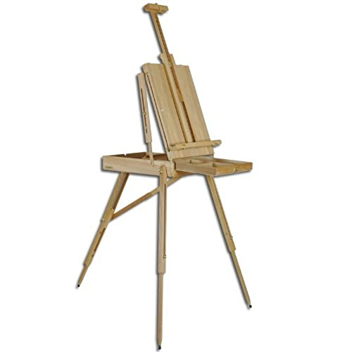 Portable French Style Wooden Art Easel (up to 34-inches canvas) by Marsielle's Studio