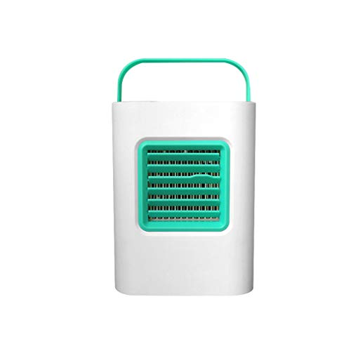 Lljin Air Cooler, USB Portable Mini Air Conditioner Cool Cooling for Bedroom Cooler Fan Home (Green)