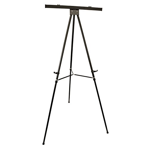 US Art Supply''Boardroom XL'' Extra Large 70'' Tall Holding 45-lb's Black Aluminum Flipchart Display Easel by US Art Supply (Image #1)