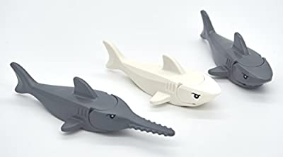LEGO Shark and Sawfish Combo Pack with Gills and Printed Eyes