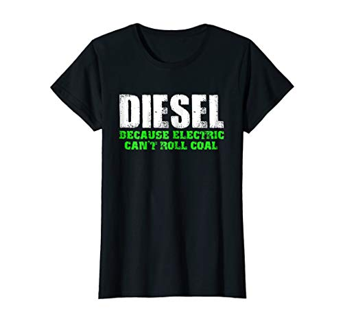 e Electric Can't Roll Coal Truck Funny T-Shirt Small Black ()