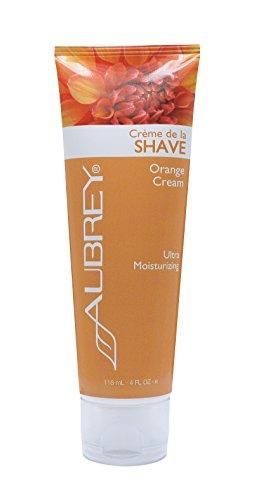 Aubrey Organics Shaving Cream (Aubrey Organics Crème de la Shave - Orange Cream - Women This Leaves Your Legs Ultra Smooth After Shaving - Moisturizing Shave Cream - 4oz)