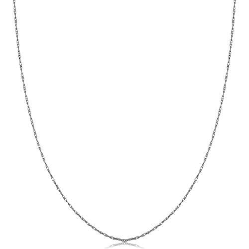 Kooljewelry 950 Platinum Rope Pendant Chain Necklace (0.7 mm, 18 inch)