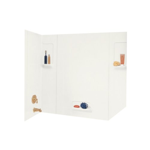 Swanstone TW-32-018 High Gloss Five Panel Tub Wall Kit, B...