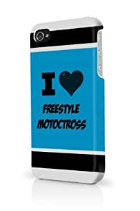 Freestyle Motoctross Blue iPhone 5/5S Case - For iPhone 5/5S - Designer PC Case