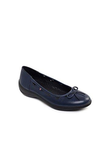 Padders Damen Lederschuhe Roxy | Hergestellt in Großbritannien | Breite E Größe | kostenloser Rückversand nach UK | Gratis Footcare UK Schuhanzieher Marine